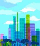 Città astratta illustrazione di stock