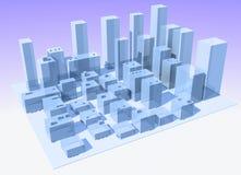 Città astratta immagine stock