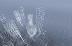 Città astratta 3D illustrazione vettoriale