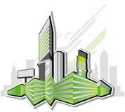 Città astratta moderna Immagini Stock