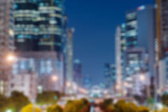 Città astratta vaga di notte Fotografie Stock Libere da Diritti