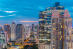 Città astratta vaga di notte Fotografia Stock Libera da Diritti