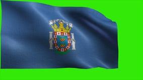 Città autonoma di Melilla, bandiera di Melilla - CICLO senza cuciture video d archivio