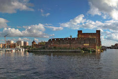 Città baltica antica Danzica. Fotografie Stock