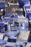 Città blu Fotografie Stock