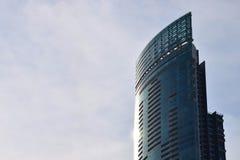 Città blu della costruzione di affari di architettura Immagini Stock Libere da Diritti