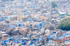 Città blu della vista superiore di Jodhpur fotografia stock libera da diritti