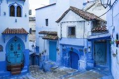 Città blu di Chefchaouen nel Marocco Fotografia Stock