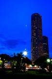 città blu di Singapore Fotografia Stock Libera da Diritti