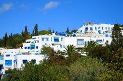 Città blu e bianca di Sidi Bou detta Fotografie Stock Libere da Diritti