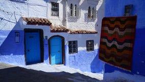 Città blu nel Marocco - Chefchaouen Fotografia Stock Libera da Diritti