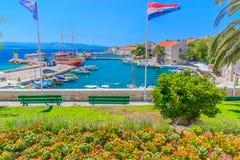 Città Bol in isola di Brac, Croazia Fotografie Stock Libere da Diritti