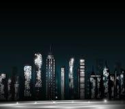 Città brillante Fotografia Stock Libera da Diritti