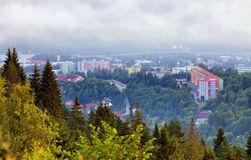 Città Cadca in Slovacchia immagini stock