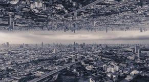 Città capovolta, fotografie stock