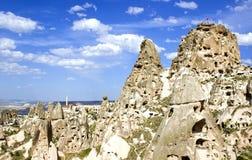 Città in Cappadoccia Fotografia Stock
