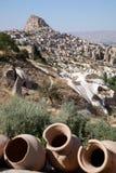 Città in Cappadocia, Turchia della caverna Fotografia Stock Libera da Diritti