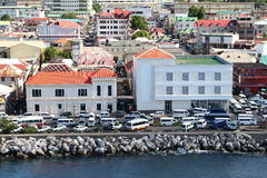 Città caraibica fotografie stock libere da diritti