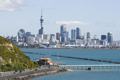 Città CBD di Auckland immagini stock