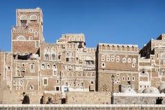 Città centrale di sanaa nel Yemen Immagini Stock Libere da Diritti