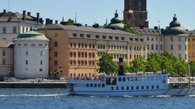Città centrale di Stoccolma stock footage