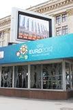 Città che accoglie 2012 dell'euro Kharkiv immagini stock libere da diritti