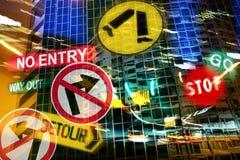 Città che determina incubo fotografia stock libera da diritti