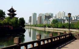 Città cinese Fotografie Stock Libere da Diritti