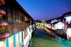 Città cinese dell'acqua immagine stock