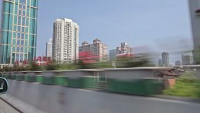 Città cinese di Shanghai stock footage