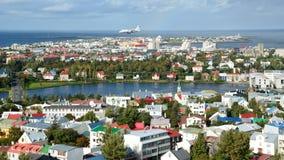 Città colourful di Reykjavik Fotografia Stock Libera da Diritti