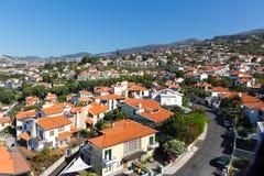 Città con le piccole case Fotografia Stock Libera da Diritti