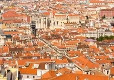 Città con le piccole case Immagini Stock Libere da Diritti