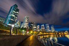 Città con tempo Fotografie Stock