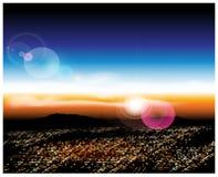 Città con una veduta panoramica Immagine Stock