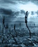 Città connettente Immagini Stock Libere da Diritti