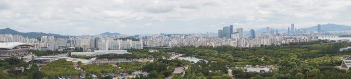 Città in Corea del Sud su panorama fotografia stock