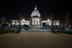 Città corridoio di San Francisco alla notte Fotografia Stock