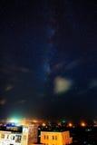 Città costiera brillante di Œthe del ¼ di Starï alla notte Fotografie Stock