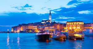Città costiera di Rovigno, Istria, Croazia Fotografie Stock Libere da Diritti