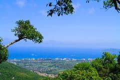 Città costiera sul mare Fotografie Stock