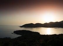 Città costiera tipica della Grecia Fotografia Stock Libera da Diritti