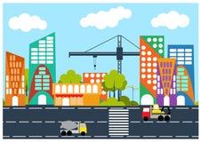 Città in costruzione Fotografia Stock Libera da Diritti