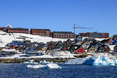 Città crescente di Nuuk, Nuuk Groenlandia immagine stock