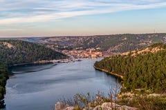 Città Croazia di Skradin fotografia stock