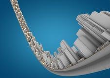 Città curva estratto Fotografie Stock
