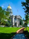Città d'altezza di miglio del centro di Denver Copper Top State Capital della cannabis Fotografia Stock