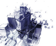 Città d'esplosione Fotografia Stock