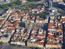 Città da sopra fotografia stock
