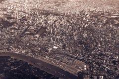 Città dalla vecchiaia di colore di marrone di vista superiore Fotografie Stock